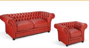 London Chesterfield kétszemélyes fix kanapé