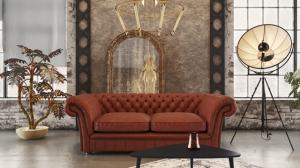 London Chesterfield háromszemélyes fix kanapé 37