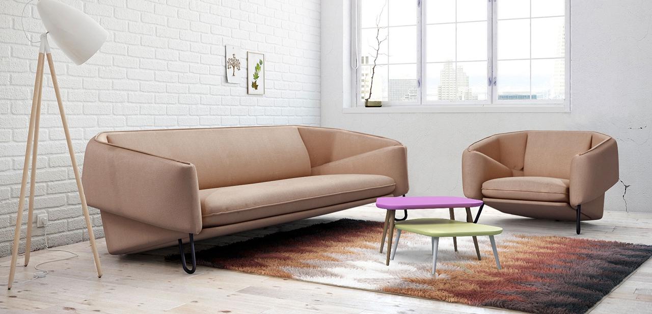 Flow 3 személyes fix kanapé hímzéssel