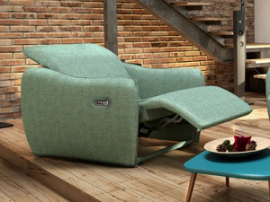 Rio elektromos relax fotel kis karral