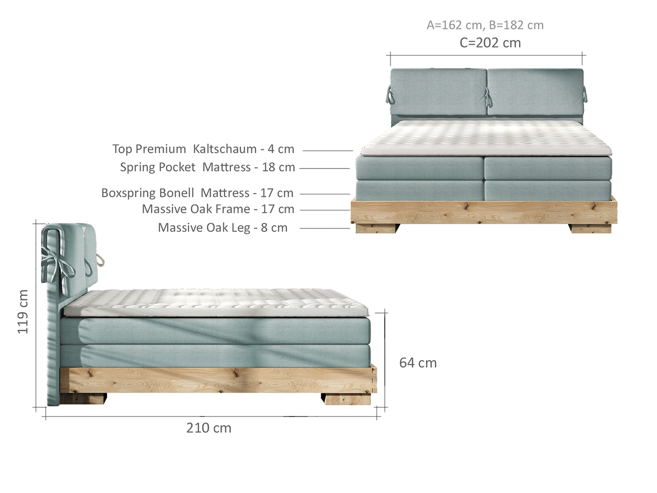 Nemea boxspring ágy