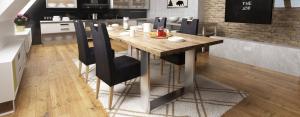 Castello tömör tölgyfaasztal