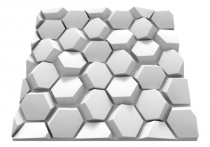 Hematite gipsz falpanel - Model 5