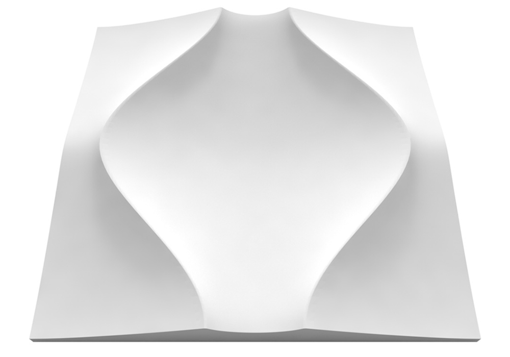 Clepsydra gipsz falpanel - Model 14