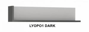 Lyon Dark Fali polc -13  LYOPO1