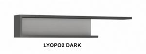 Lyon Dark Fali polc -13  LYOPO2