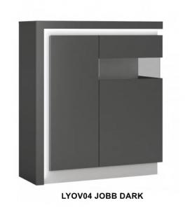 Lyon Dark Kétajtós vitrin jobb -13  LYOVO4