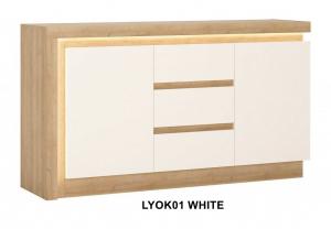 Lyon White Komód -13  LYOK01