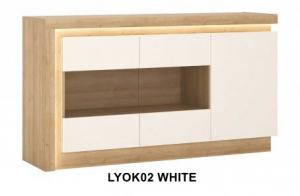 Lyon White Komód -13  LYOK02