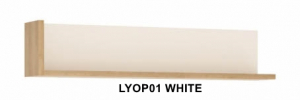 Lyon White Fali polc -13  LYOP01