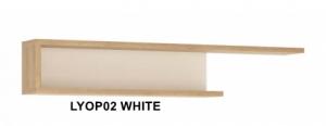 Lyon White Fali polc -13  LYOP02