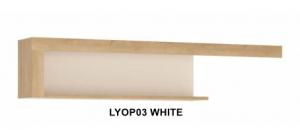 Lyon White Fali polc -13  LYOP03