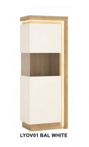 Lyon White Egy ajtós vitrin -13  LYOV01BAL