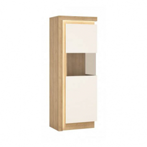 Lyon White Egy ajtós vitrin -13  LYOV01 JOBB