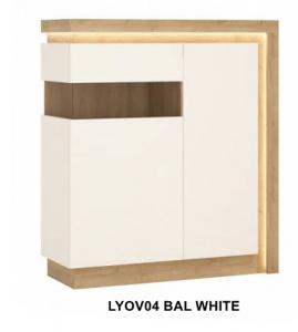 Lyon White Kétajtós vitrin -13  LYOVO4 BAL