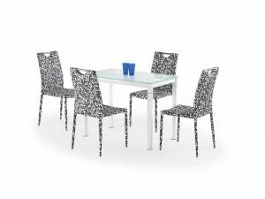 Argus tejüveg-fehér étkezőasztal
