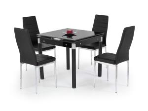 Kent-25 fekete üveg étkezőasztal
